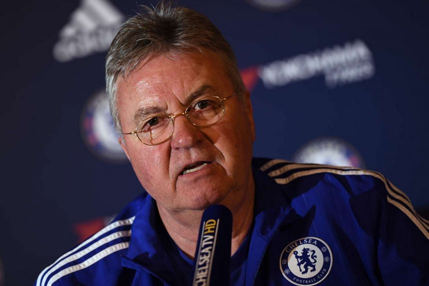Chelsea manager Guus Hiddink during a press conference.