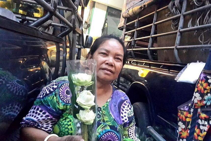 Mrs Jantana Sawangphop, 56, is a vendor who has been selling her wares at Bangkok's Pak Klong Talad for around 40 years. She is among the vendors under pressure to move to actual shops after a recent cleanup drive by the Bangkok Metropolitan Administ