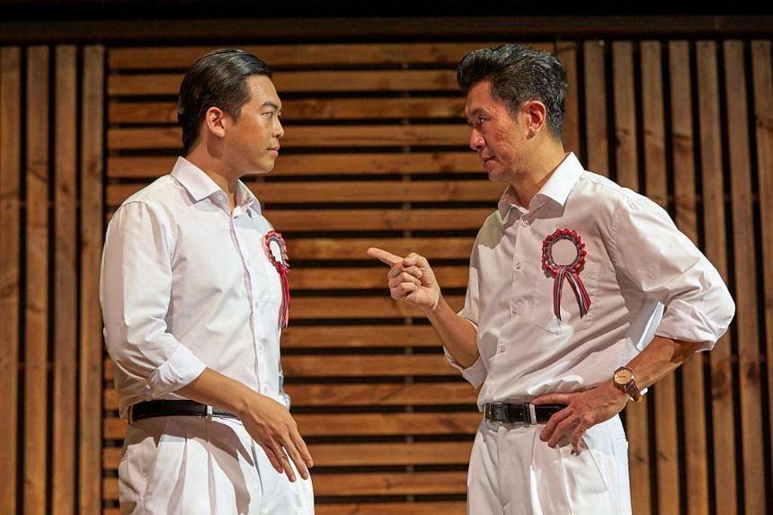 The LKY Musical starred Adrian Pang (right) as Lee Kuan Yew and Benjamin Chow as Lim Chin Siong.