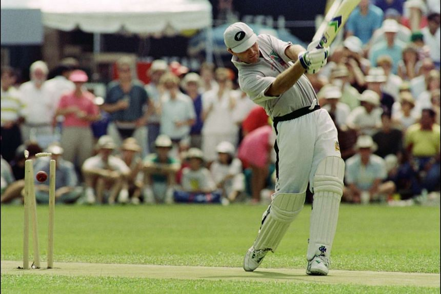 Martin Crowe in action on Oct 4, 1992.