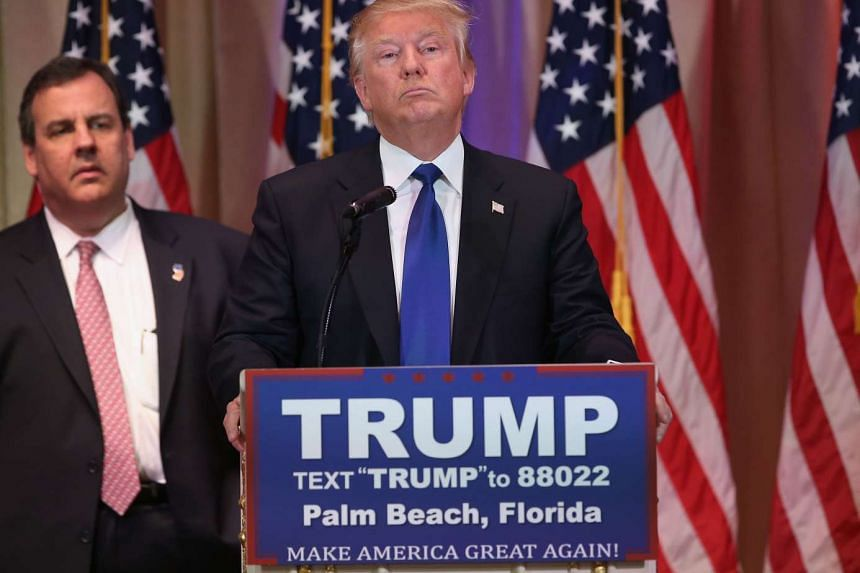 Republican presidential candidate Donald Trump at Mar-A-Lago Club, Florida, on Super Tuesday, March 1, 2016.
