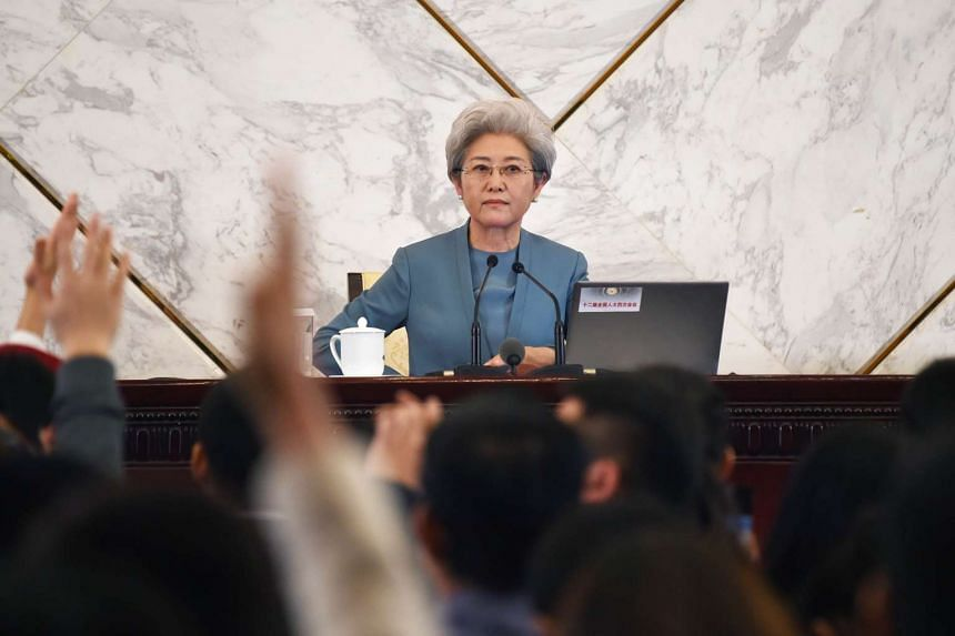 Fu Ying, spokesperson for the fourth session of China's 12th National People's Congress on March 4, 2016.