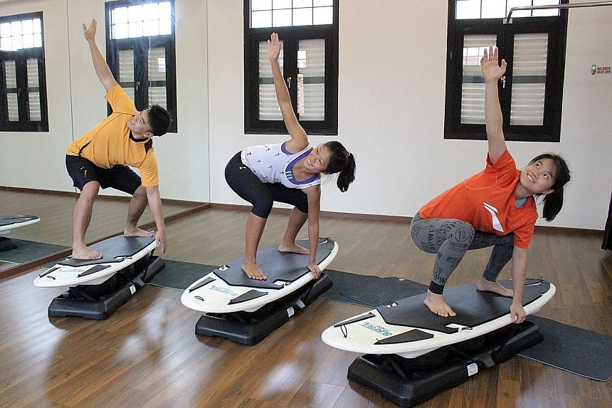 Classes taking place this weekend include surfset - exercises done on a surfboard.