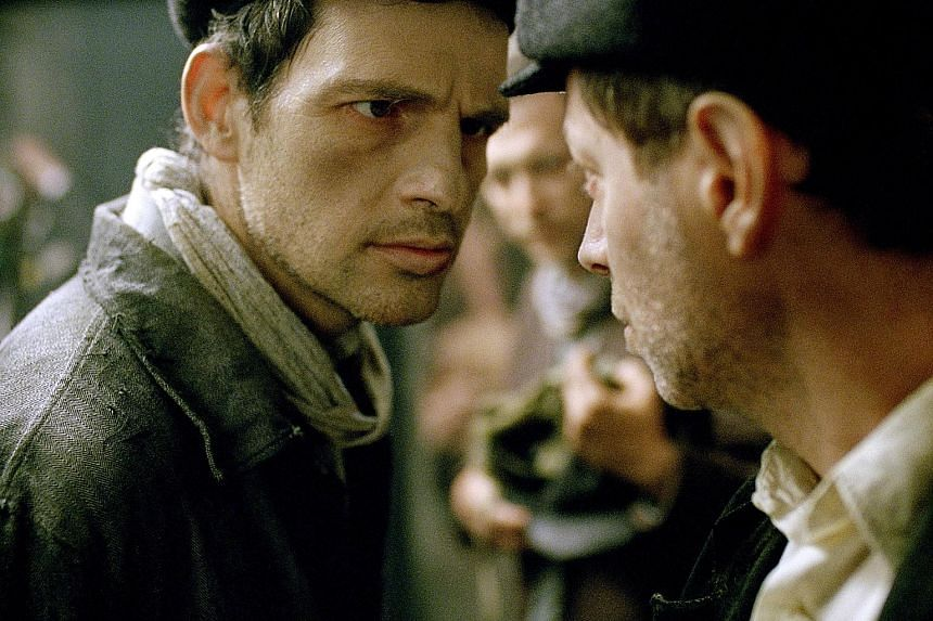 Geza Rohrig (left) in Son of Saul