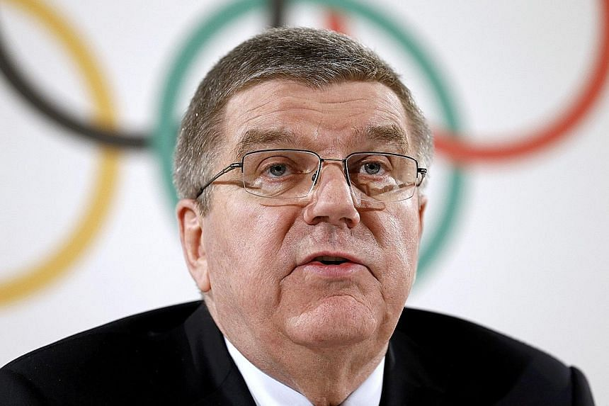 THOMAS BACH (above), IOC president, on his organisation's efforts to battle