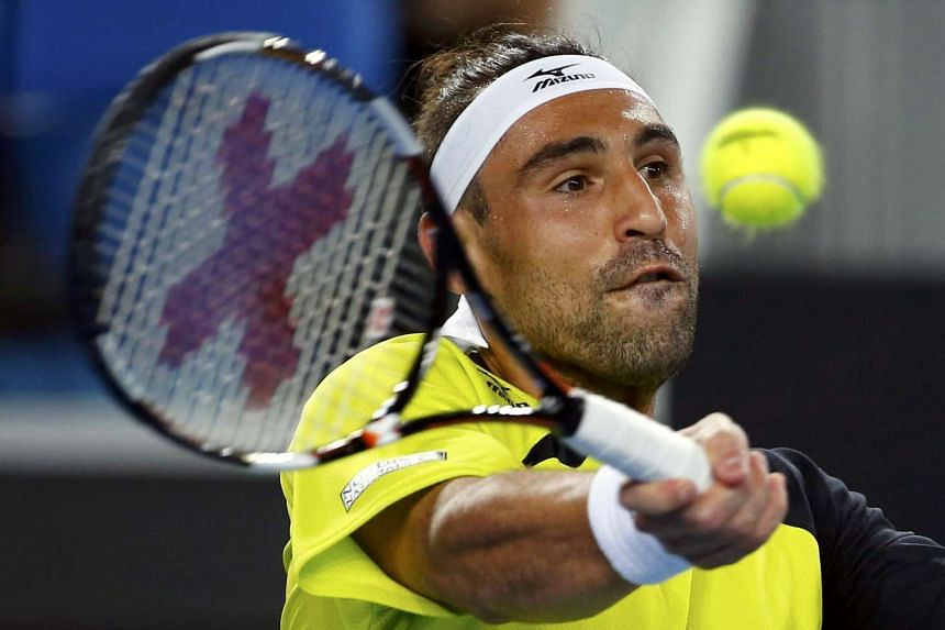 Baghdatis (above) went past Borg's mark of 33 straight singles victories.