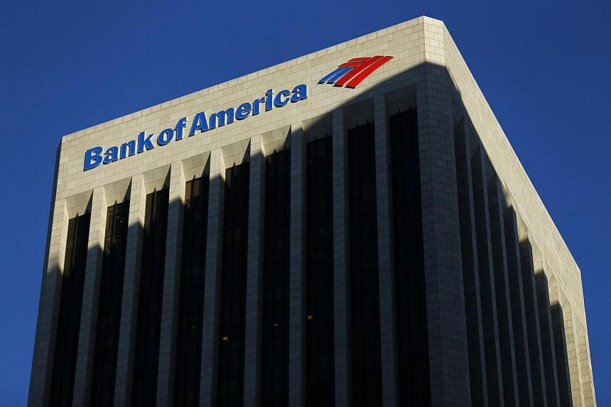 The Bank of America building is shown in Los Angeles, California in this Oct 29, 2014 file photo.