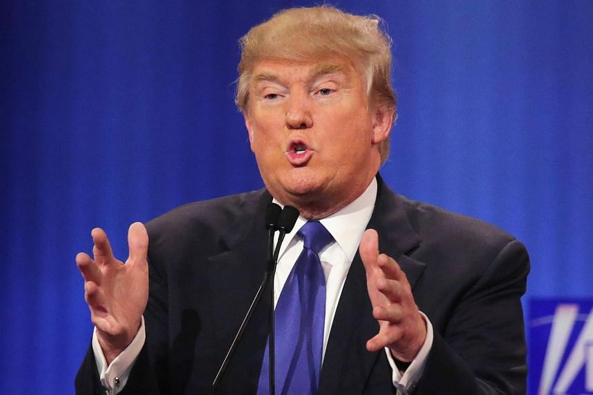 Republican frontrunner Donald Trump made a veiled reference to his own genitals at a presidential debate on Thursday (March 3).