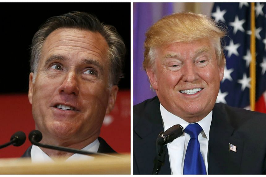 Romney's (left) deeply personal attack on Trump (right) exposed deep party unease at the billionaire's political rise.