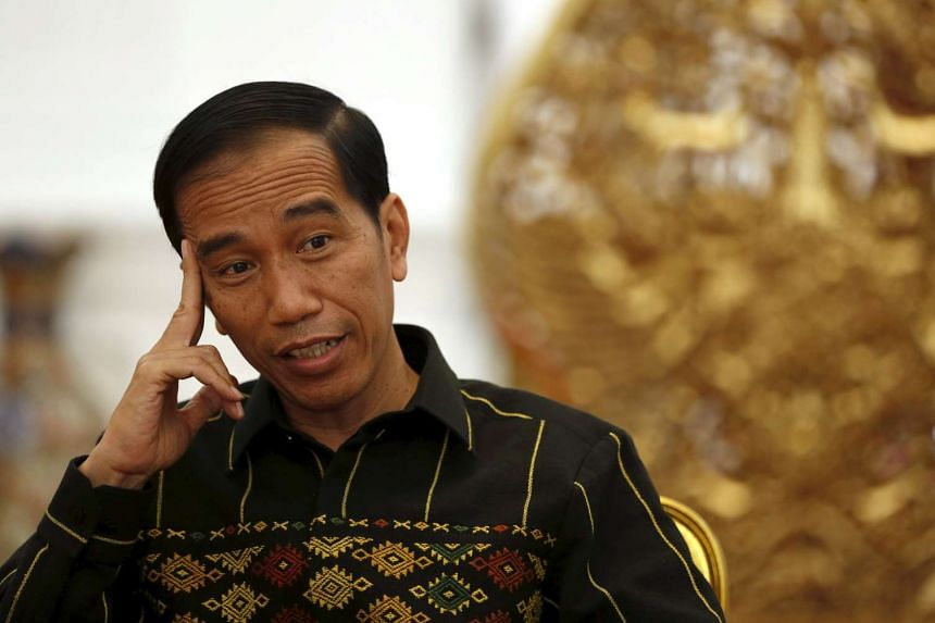 Indonesian President Joko Widodo speaks with Reuters during an interview at the presidential palace in Jakarta, on Feb 10, 2016.