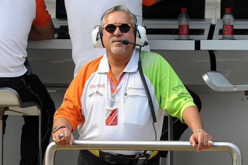 Mr Vijay Mallya at a practice session for the Formula One Indian Grand Prix in 2011.