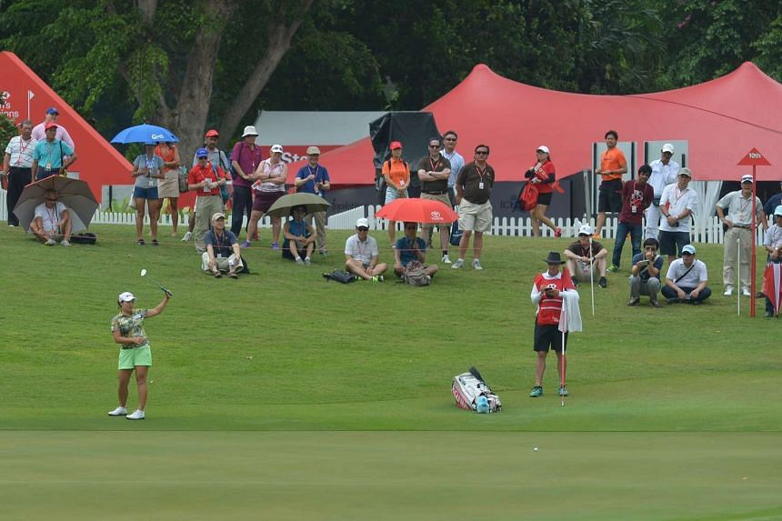 The HSBC Women's Champions golf tournament at the Serapong course on Sentosa on March 4, 2016.