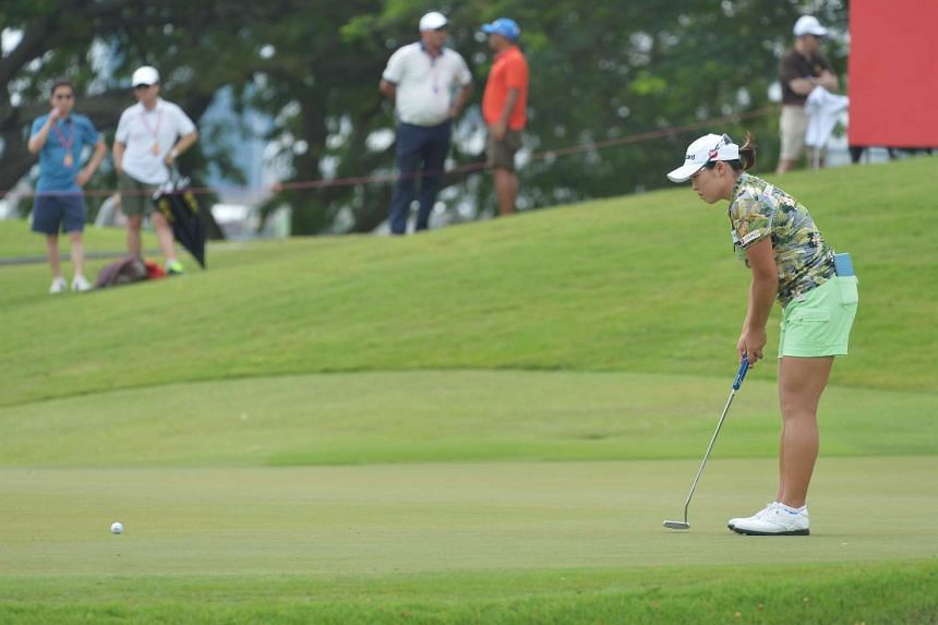 South Korea's Jang Ha Na (above) took the lead at the HSBC Women's Champions on March 5, 2016.