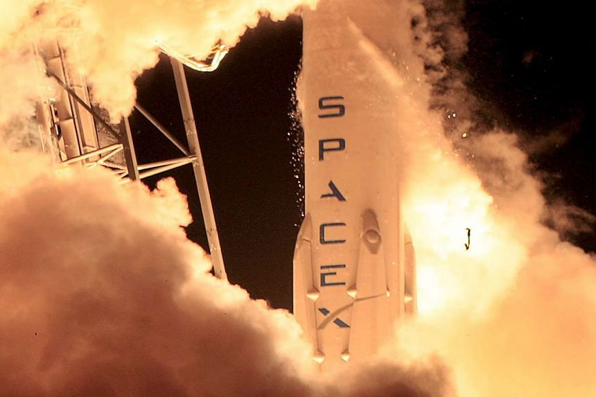 A SpaceX Falcon 9 rocket lifting off in Cape Canaveral, Florida, on Dec 21, 2015.