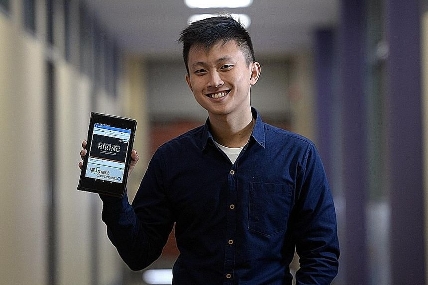 Mr Lee, 24, won in the IT Youth category of the IT Leader Awards given by the Singapore Computer Society for founding InspireArts, an online business development company, and Jobook, a job-matching site.