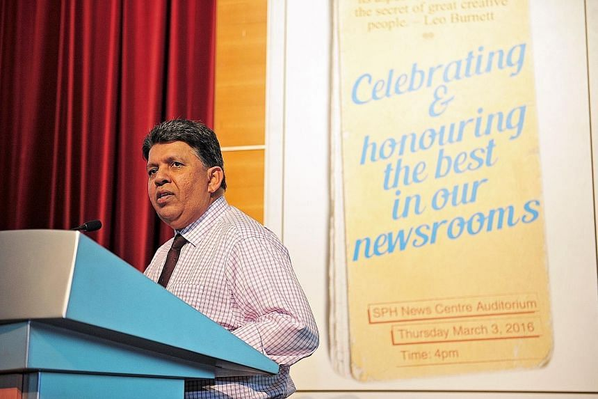 Mr Daniel speaking at the annual SPH awards on Thursday. As the media business transforms to tackle the challenges it is facing, he said, related businesses such as radio and books are doing great.