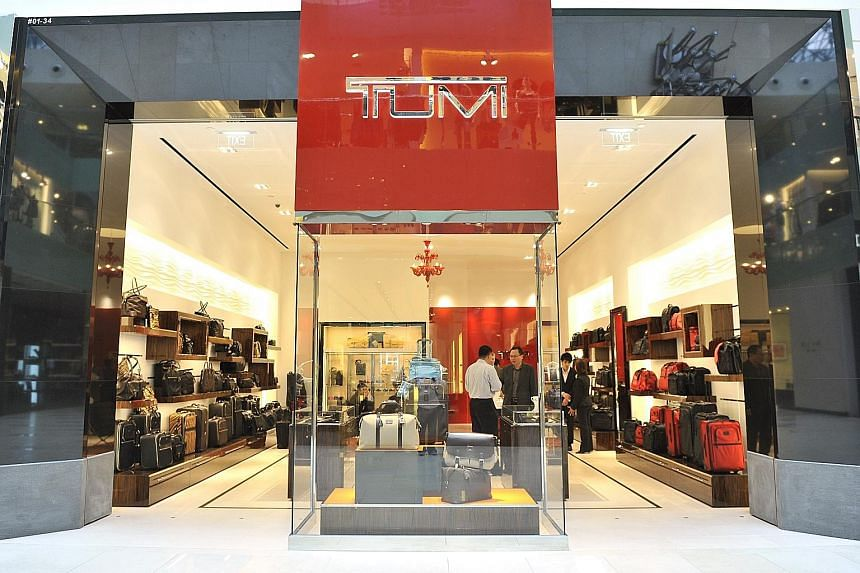 Tumi sells bags for as much as US$1,300 (S$1,800) and has more than 170 stores worldwide, including this store at Raffles City. The luxury brand has plans to open up to 20 more stores this year