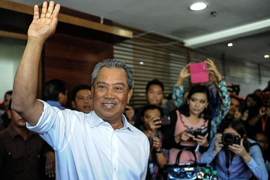 Former Malaysian deputy prime minister Muhyiddin Yassin arrives at a special press conference in Kuala Lumpur on March 3, 2016.