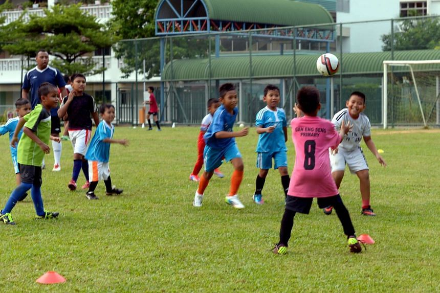 A football training session at Henderson Secondary School in 2014. Henderson is one of the schools that will be merged.