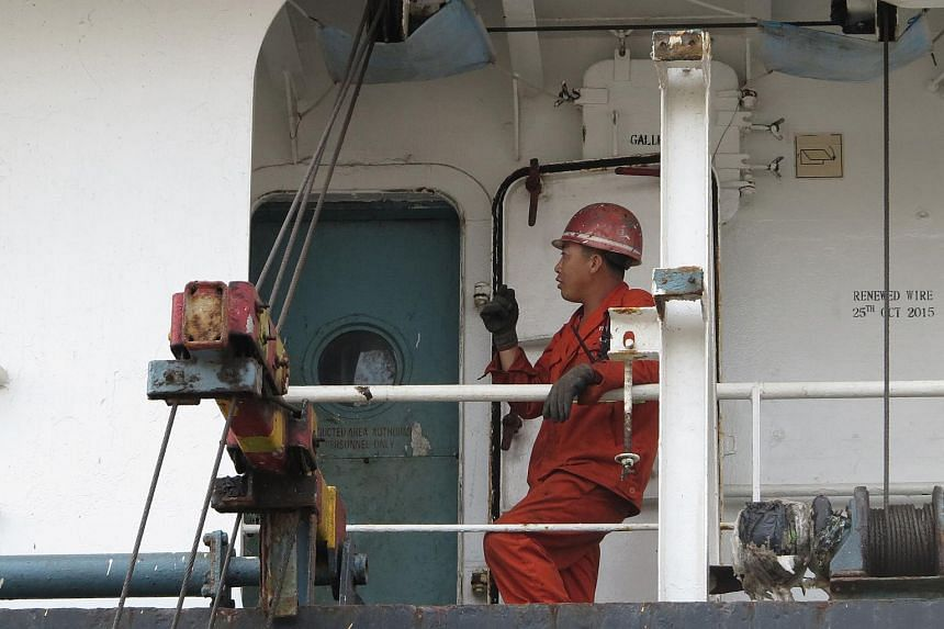 A crew member of the North Korean cargo ship Jin Teng.
