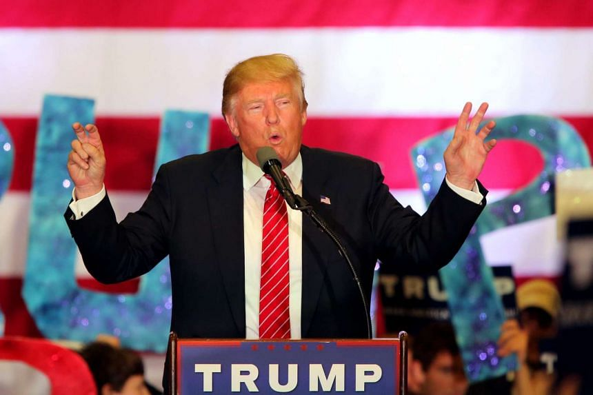 Donald Trump speaking to supporters during a rally in New Orleans on March 4.