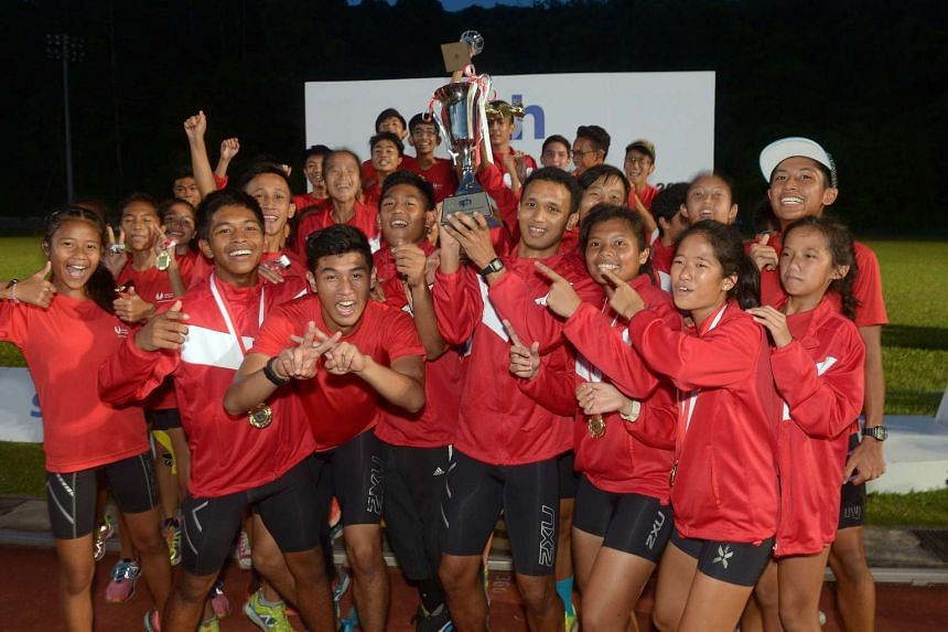 The victorious Singapore Sports School team.