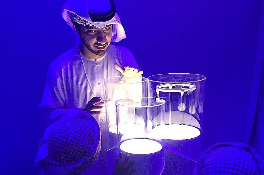Above: Technology exhibits at Dubai's Museum of the Future. Digitalisation in the form of 3D printing and other bold innovations is turning global trade on its head.