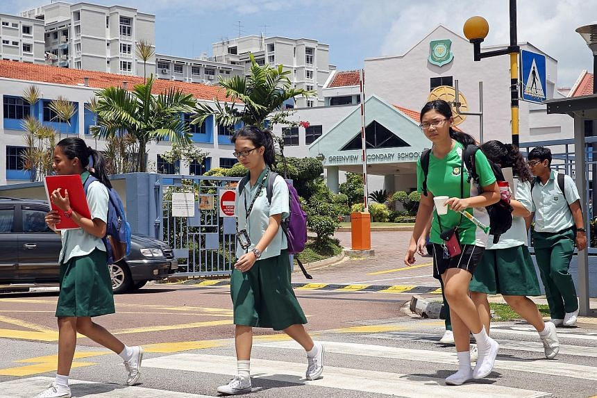 Greenview Secondary (above) will merge with Loyang Secondary in 2018.