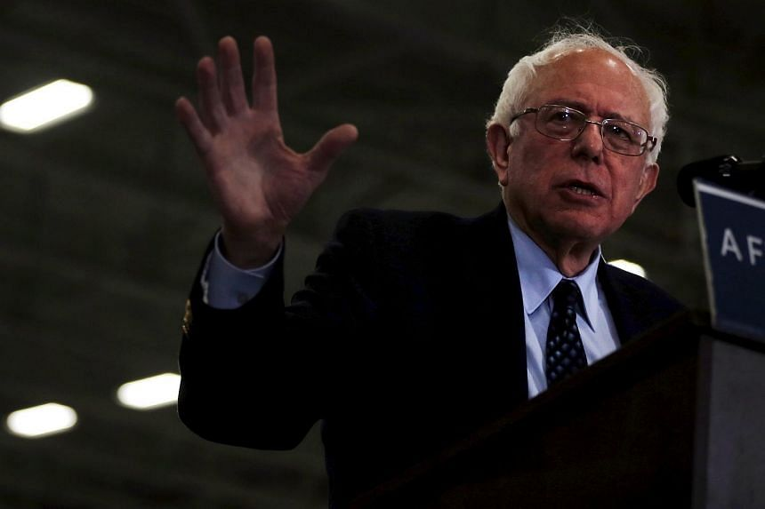 Democratic presidential candidate Bernie Sanders speaks at a campaign rally in Michigan, on March 5, 2016.