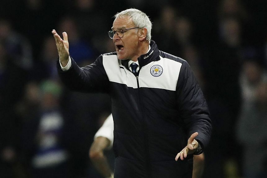 Leicester manager Claudio Ranieri during the English Premier League football match against Watford.