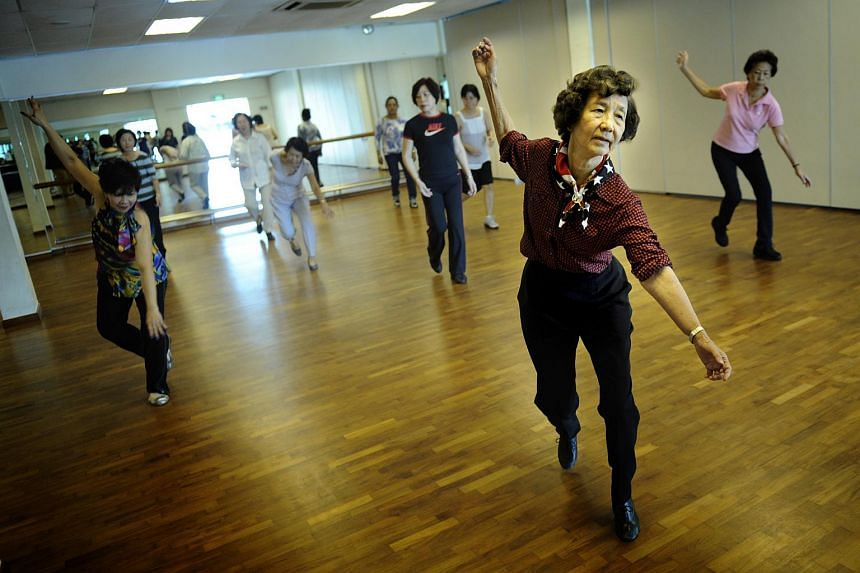 Ms Daisy Chee, 74, a retiree who leads a happy lifestyle, filling her days with volunteer works and line dancing.
