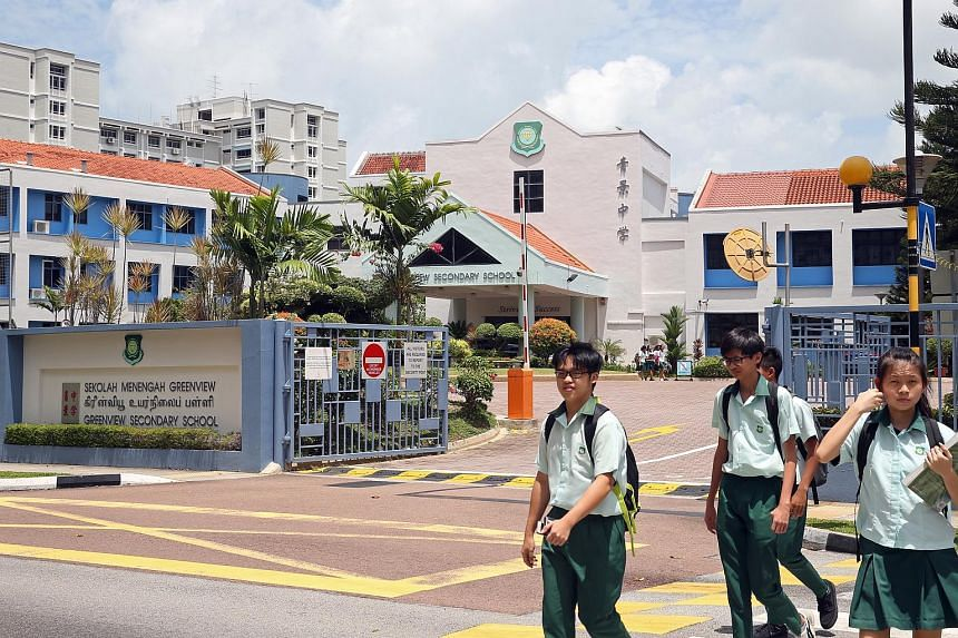 Greenview Secondary School will be merged with Loyang Secondary in 2018, one of the 22 schools that MOE said will be whittled down to 11 over the next two years.