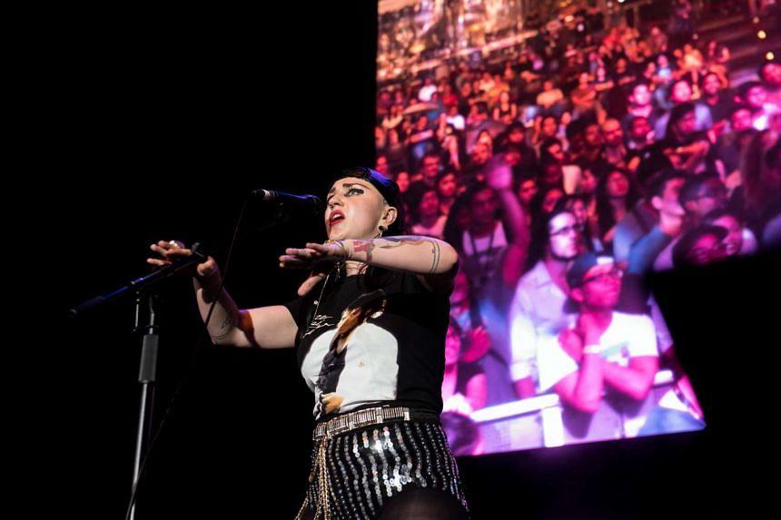 Hiatus Kaiyote performing at the SingJazz Festival.