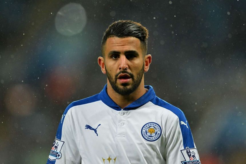 Algeria winger Mahrez (above, in a file photo) blasted an unstoppable shot into the top corner in the 56th minute.