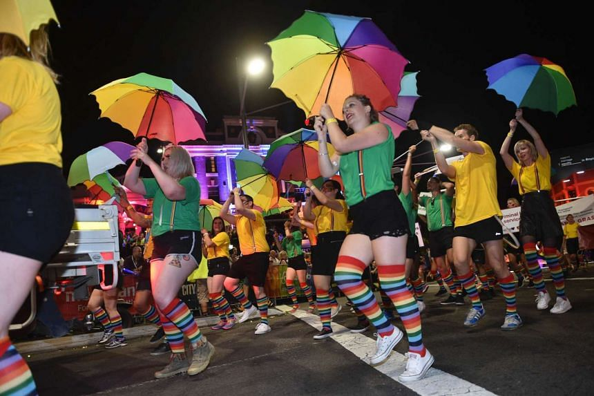 Participants take part in the Sydney Mardi Gras Parade on March 5, 2016.