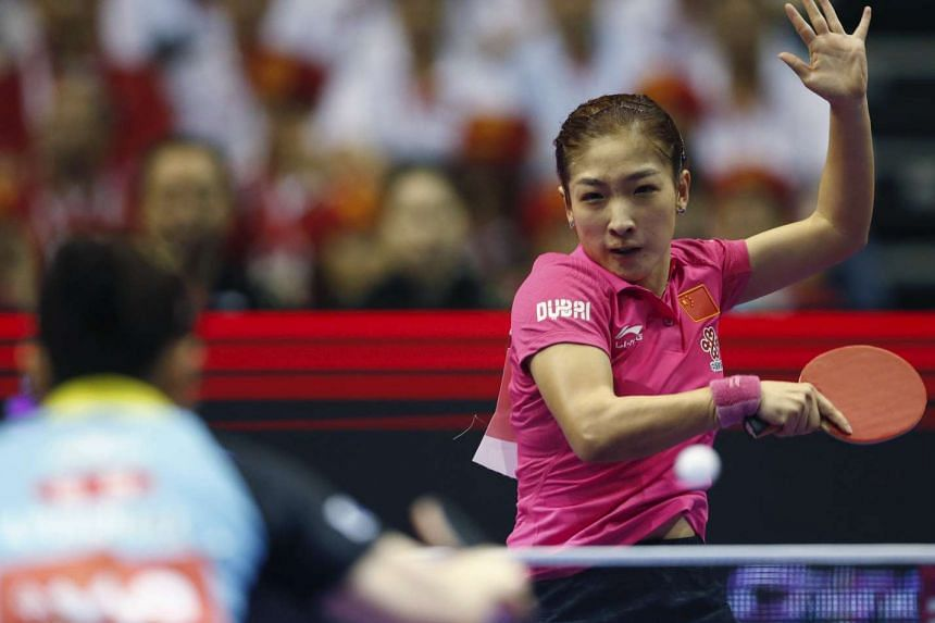 China's world No. 1 Liu Shiwen in action during the final against Japan.