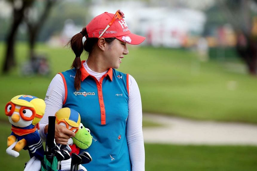 South Korean Park Hee Young is usually one of the game's most fashionable players. She did not disappoint and her club covers were equally eye-catching.