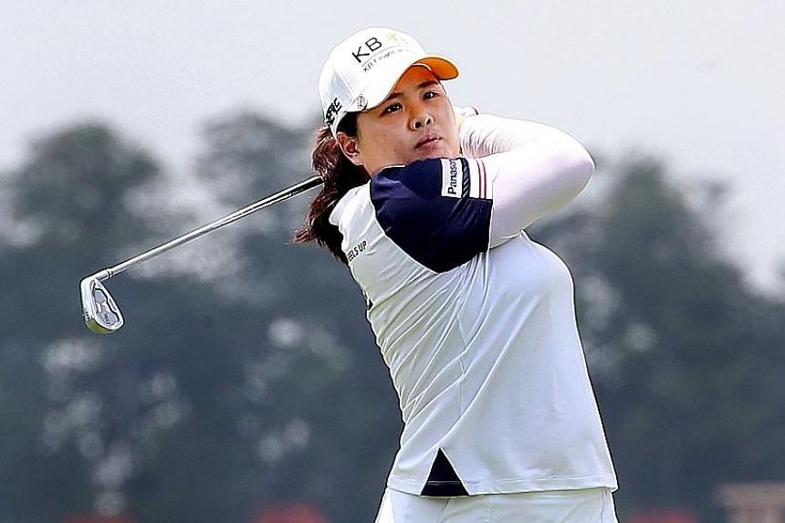 World No. 2 Park In Bee, pictured at the HSBC Women's Champions, leads the charge to make South Korea's women's golf squad for the Rio Olympics. She and her compatriots occupied seven of the top 15 spots in the world rankings as of yesterday.