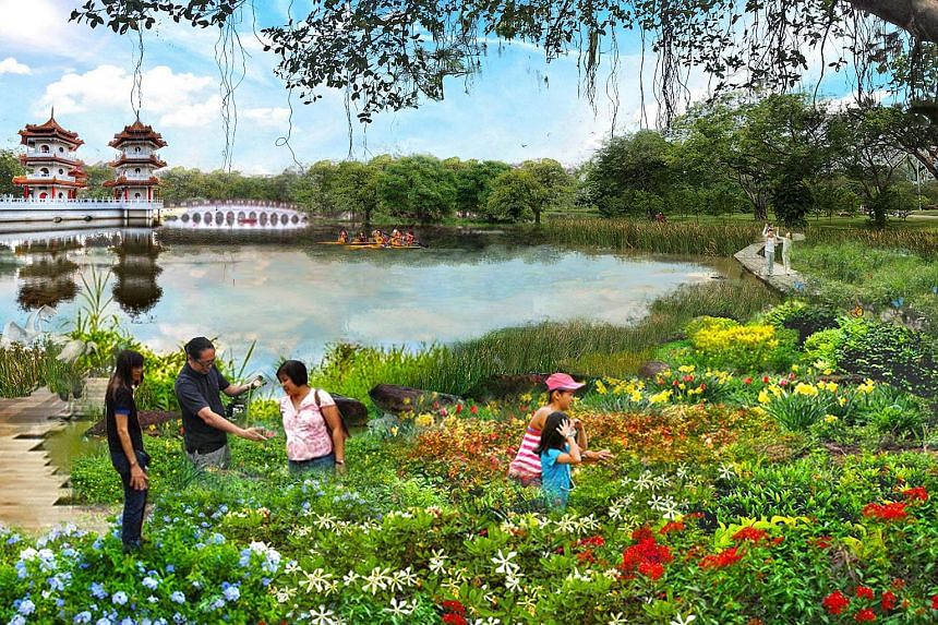 An artist's impression of the upcoming Jurong Lake Gardens.