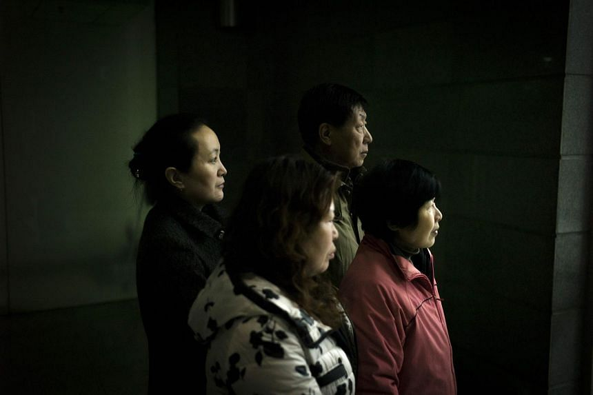 Chinese relatives of the missing MH370 passengers plane on March 4, 2016.