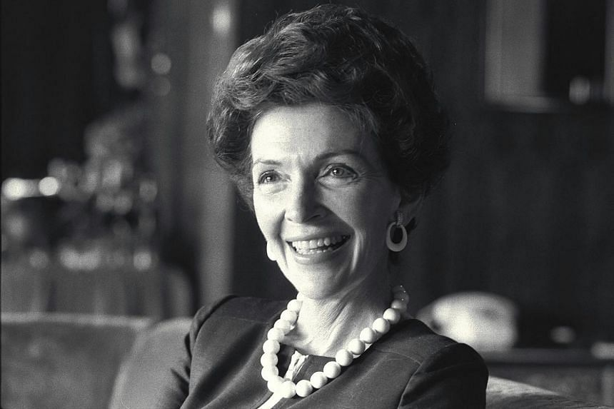 Nancy Reagan at the Hilton Hotel in Singapore in 1973. Her husband Ronald Reagan, later a US president, was then President Richard Nixon's special emissary to Asia.