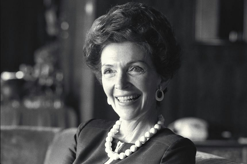 Mrs Nancy Reagan at the Hilton Hotel in Singapore in 1973.