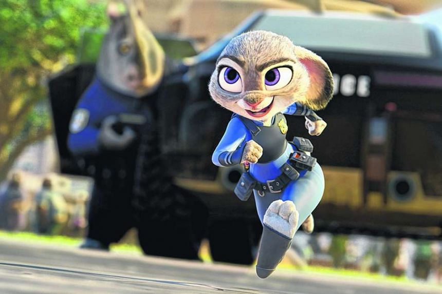 A scene from the Disney animated feature Zootopia.