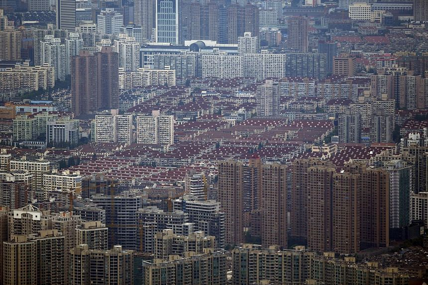 A general view of a residential area in the Puxi district of Shanghai in August, 2013.