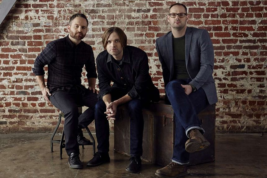 Death Cab For Cutie comprise (from far left) bassist Nick Harmer, singersongwriter Ben Gibbard and drummer Jason McGerr.