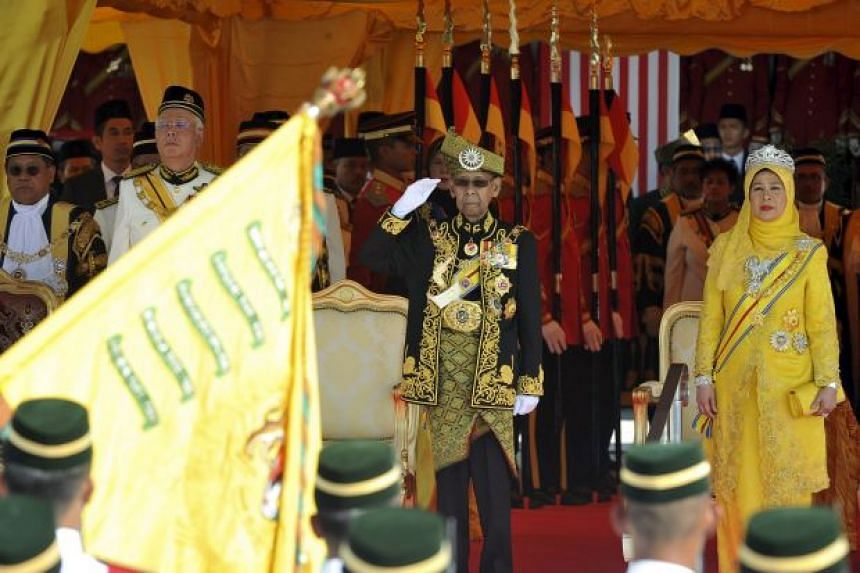"""Malaysia's King called on Members of Parliament to end politicking for """"narrow interests"""" in his opening address to Parliament on March 7, 2016."""