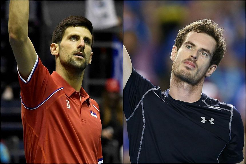 Novak Djokovic (left) and Andy Murray spent almost 10 hours on court between them at the Davis Cup quarter-finals, on March 6, 2016.
