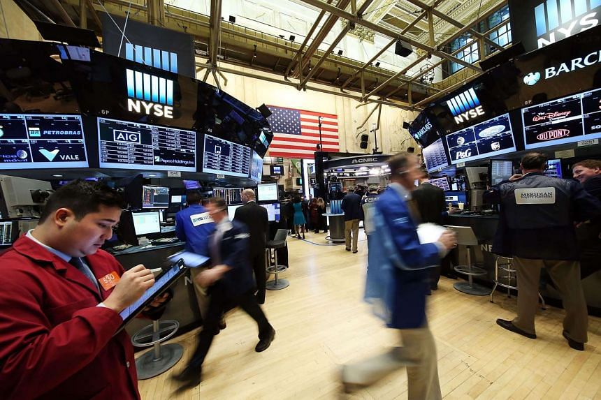 Five minutes into trading, the Dow Jones Industrial Average stood at 16,979.51, down 94.44 points.