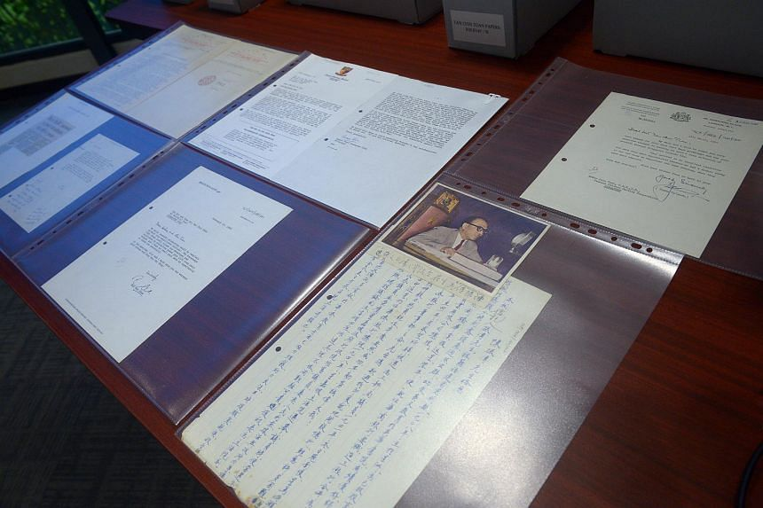 Private papers belonging to the late banker and philanthropist Tan Chin Tuan being displayed.