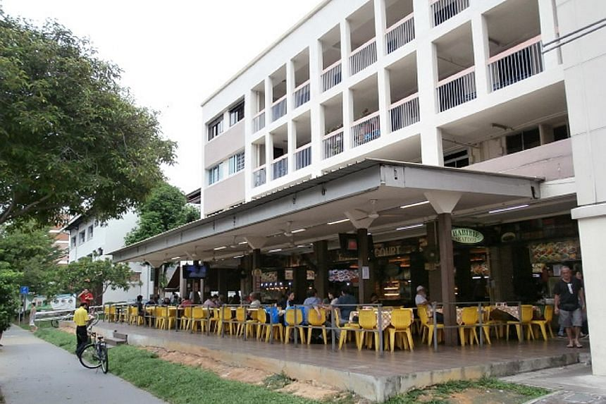 The foodcourt in Tampines (left) has space for about 10 stalls and, currently, there is an outdoor refreshment area, as well as living quarters. The total area is about 3,800 sq ft. The one in Midpoint Orchard (above) has a strata floor area of 2,648
